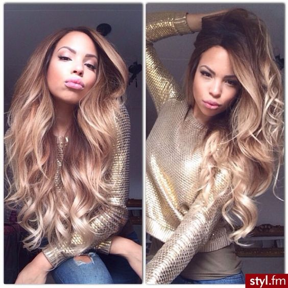 Long healthy hair/ gorg color