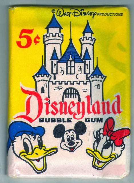 Disneyland gum cards (1965) Unopened pack