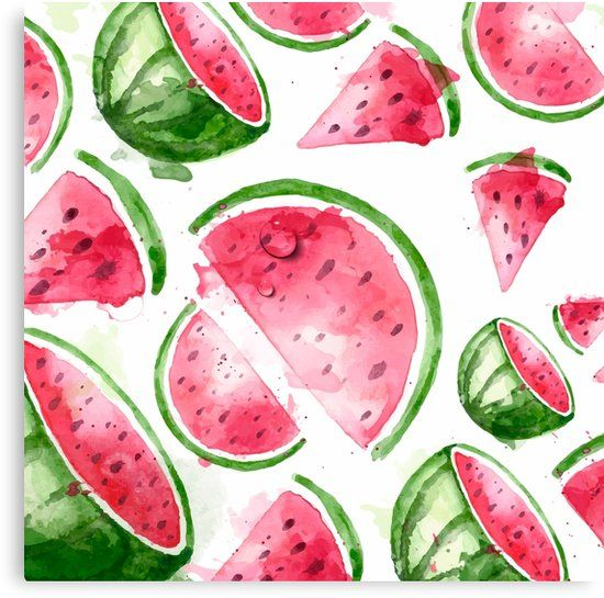 Tropical Fruit Watermelon Canvas Print By Designxd Watermelon Wallpaper Summer Wallpaper Fruit Wallpaper