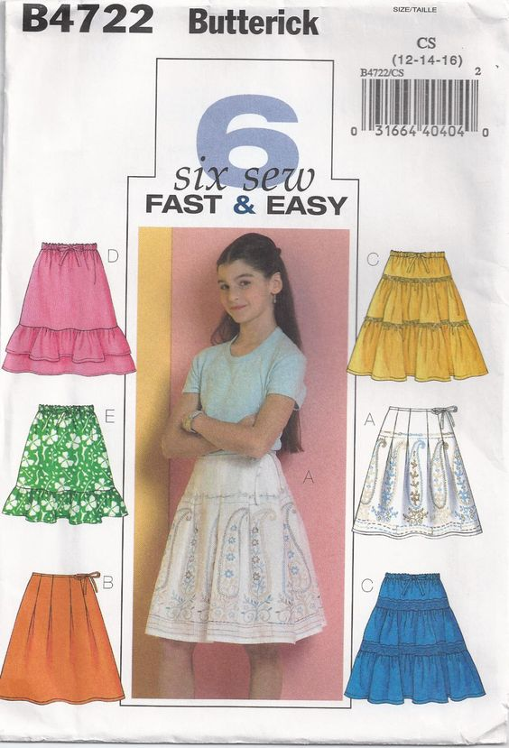 Girls Skirt Variations Optional Pleats Ruffles Size 12 by Rosie247, $4.99