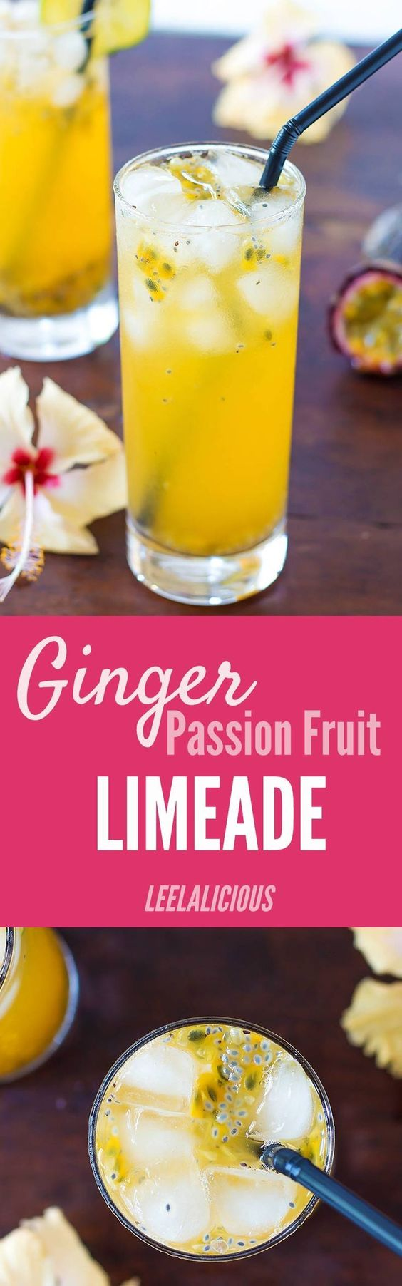 This refreshing Passion Fruit Limeade is sweetened with a ginger ...