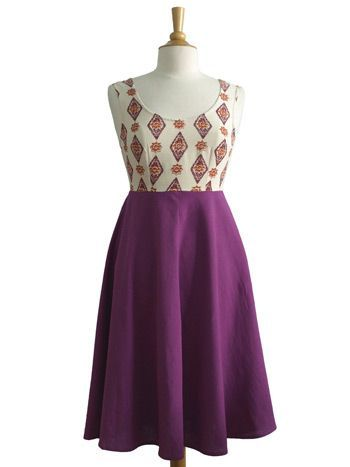Bohemian dresses - Paint the Town dress purple - Fair Trade Fashion | Mata Traders