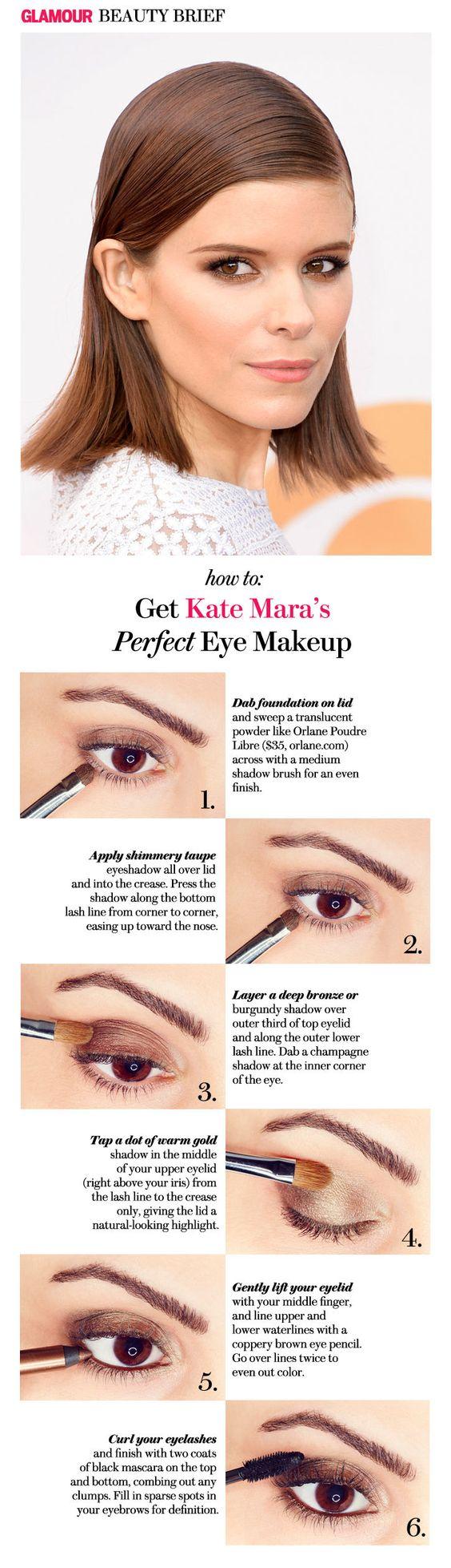 How to copy Kate Mara's smoky eye makeup
