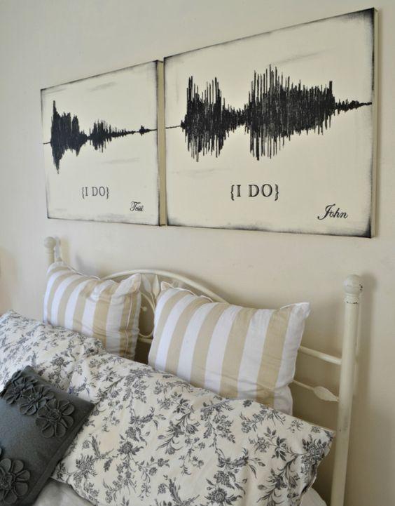 Sound Wave Artwork | wedding I Do art || Aimee Weaver Designs