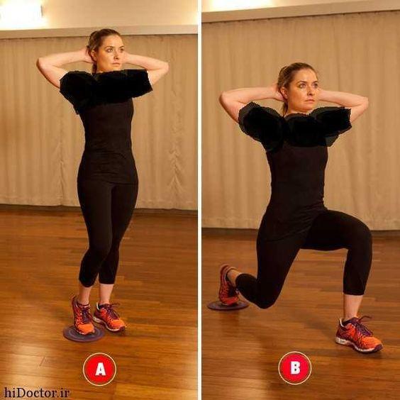 عکس, سه ورزش قوی برای از رفع سلولیتهای ران و باسن و عضله سازی