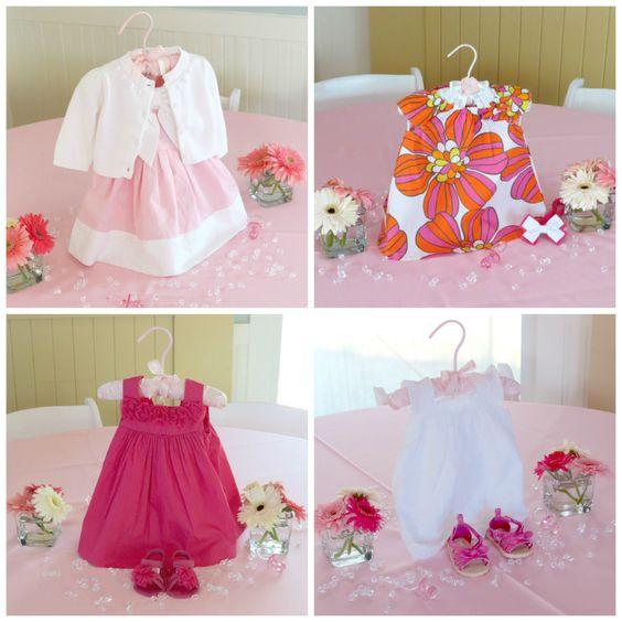 Baby Shower Dress Ideas: DIY Baby Dress Centerpiece