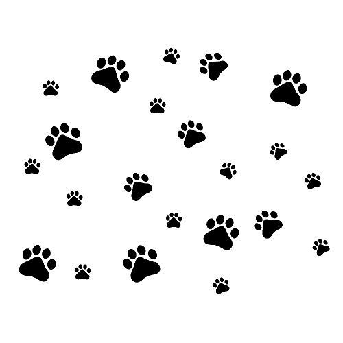 Mlm Dog Paw Prints Dog Pup Removable Vinyl Wall Sticker D Https Www Amazon Com Dp B01coubn1s Ref Cm Wall Stickers Bedroom Paw Print Stickers Wall Stickers
