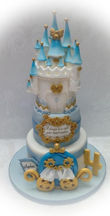 A dream is a wish your heart makes Cinderella Cake Pinterest