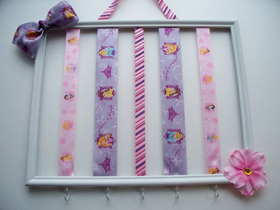 Princess themed hair bow holder girls hair by MaggieMayeDesigns, $26.00
