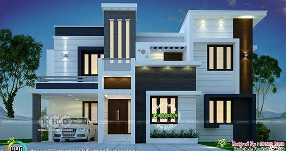 4 Bedroom 2555 Sq Ft Contemporary Home Design In 2020 Kerala