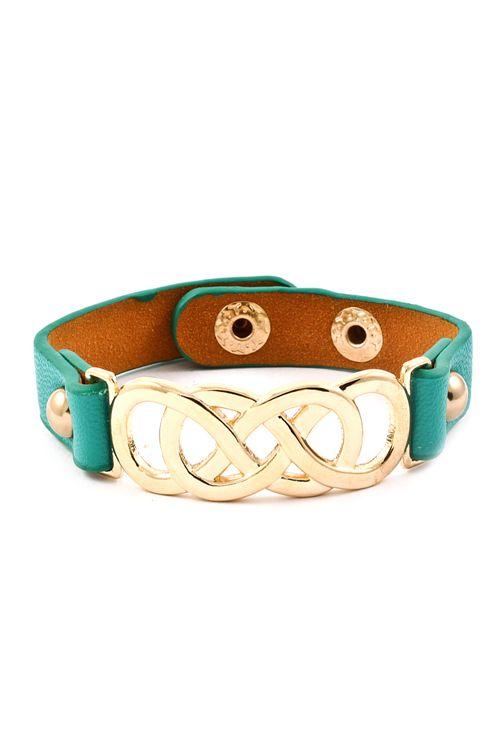 Triple Infinity Bracelet in Teal on Emma Stine Limited