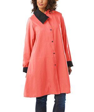 Love this Jet Black & Watermelon Natalie Coat by Janska on #zulily! #zulilyfinds