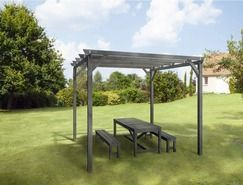 pergola 3x3 grise magasin de bricolage brico d p t de tourcoing ma terrasse pinterest. Black Bedroom Furniture Sets. Home Design Ideas