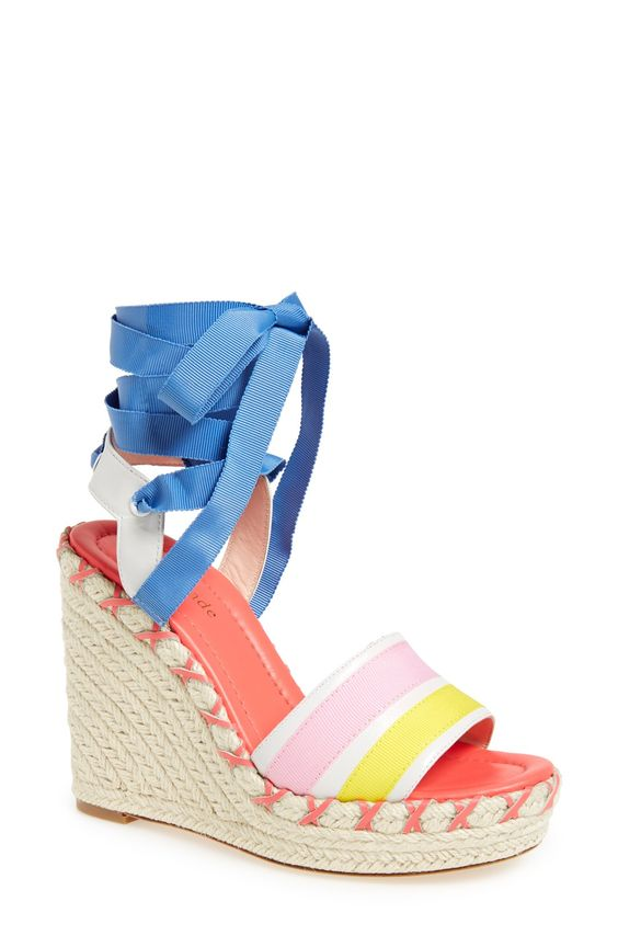 These colorful wedge sandals by Kate Spade are perfect for spring ...