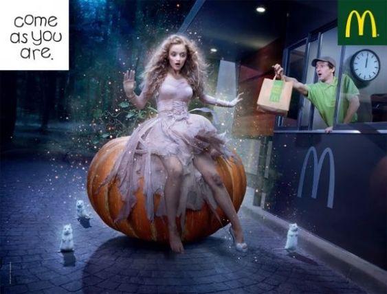 Mcdonalds ghost halloween print ad 2