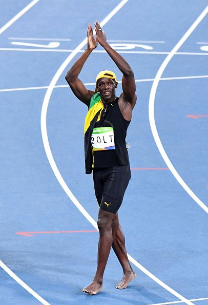 Usain Bolt winner of the Men's 100m final on Day 9 of the Rio 2016 Olympic Games…