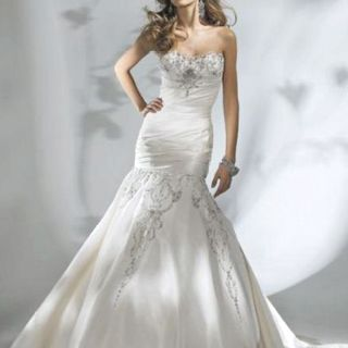 Mermaid cut wedding dress