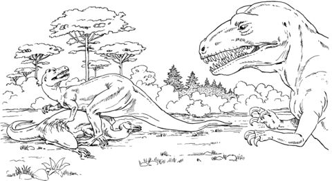 Allosaurus Over Dead Camptosaurus Coloring Page Super Coloring Pages Coloring Pages Dinosaur Coloring Pages