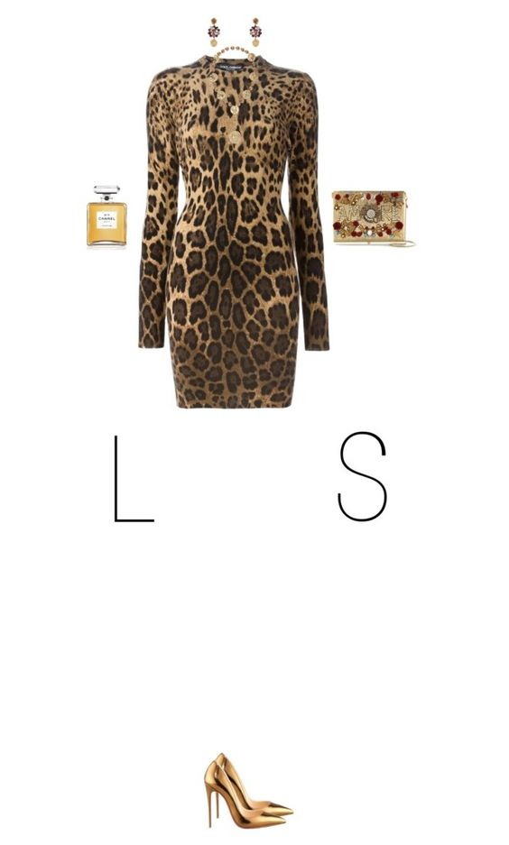 """LS"" by chersjoy ❤ liked on Polyvore featuring Dolce&Gabbana, Christian Louboutin and Chanel"