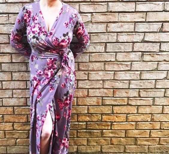 DIY Wrap Maxi Dress