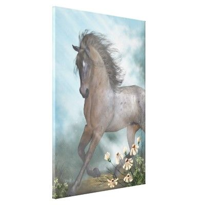 The Horse Canvas Print by Gatterwe
