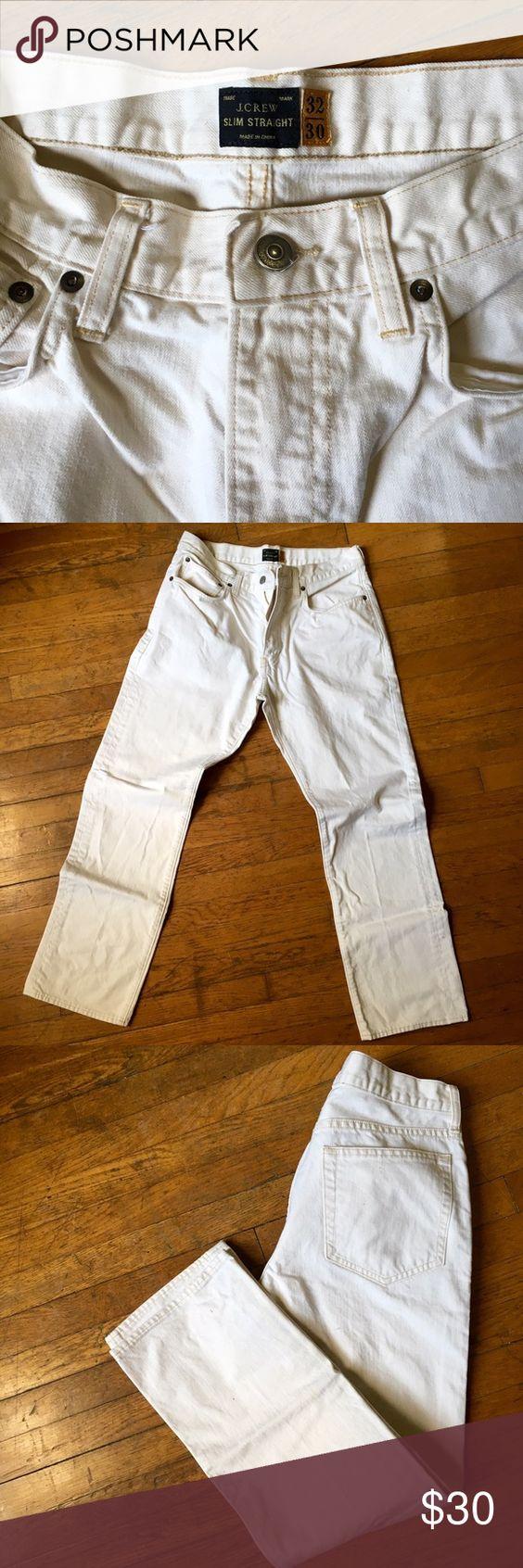 J.Crew Jeans Men's J.Crew Slim Straight Jeans, Off-White J. Crew Jeans Slim Straight