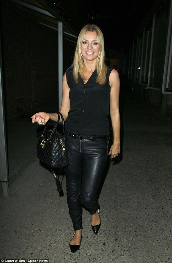 Be a biker babe in leather trousers like Tess Daly's #DailyMail ...