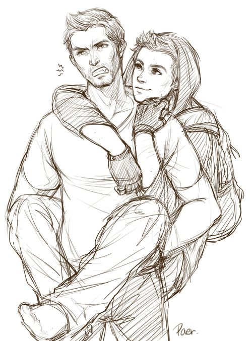 TW Fan-Art by Bilibili I see this almost as Four and Tris from Divergent when Four is in a grumpy mood... just me?