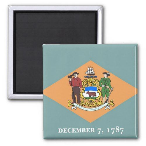 Magnet With Flag Of Delaware State Usa Zazzle Com Delaware State Delaware State Flag Custom Magnets