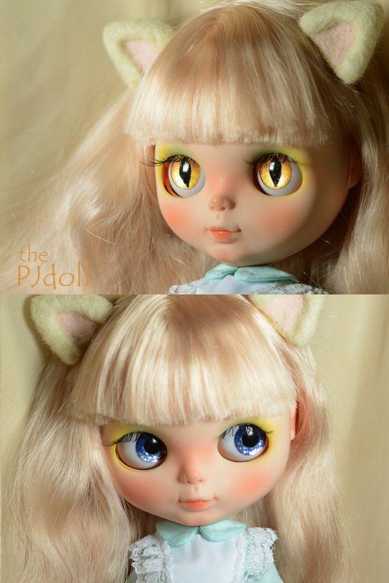 ThePJdoll Katty Cat Custom Blythe Doll/OOAK handmade by ThePJdoll