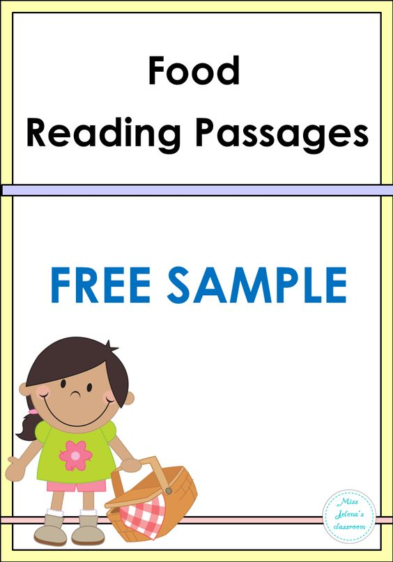 FREE SAMPLE Food Reading Passages