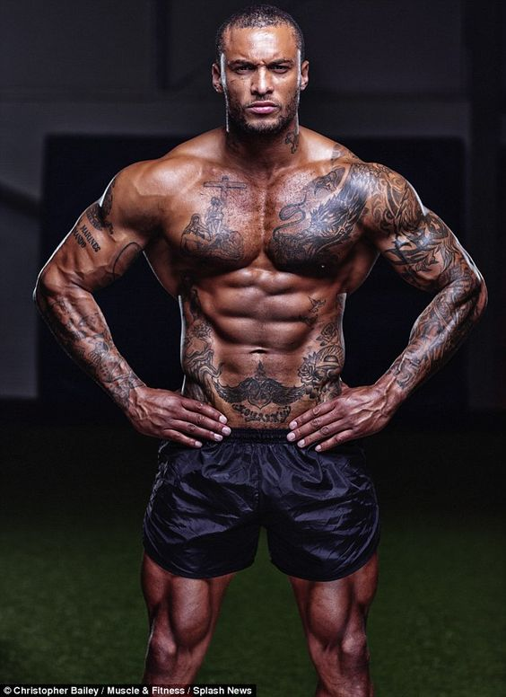 Macho man: David McIntosh has stripped off in  shoot for Muscle and Fitness... http://dailym.ai/1ibUCVD#i-a8700e68