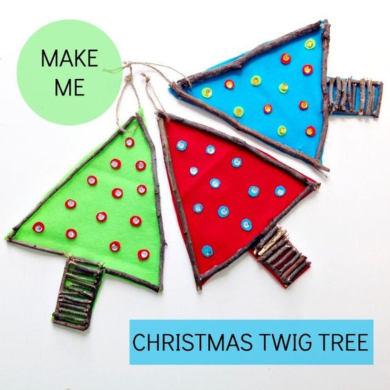 These cute Christmas trees are so easy for your children to make - they can choose their own colors and decorations!