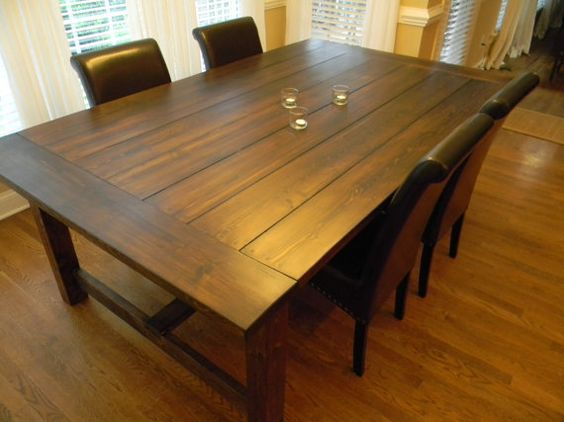 84 Long  Extra Wide Farmhouse Dining Table Via Etsy | For The Home |  Pinterest