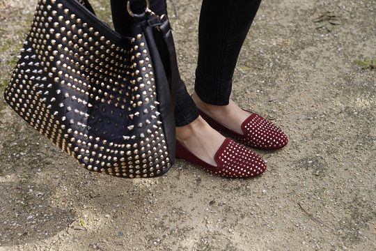 Giving in to studded love...