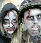 Zombie Makeup Kit Stage and Halloween Non Toxic Safe for Kids, not greasy and doesn't crack at pinkquartzminerals.com