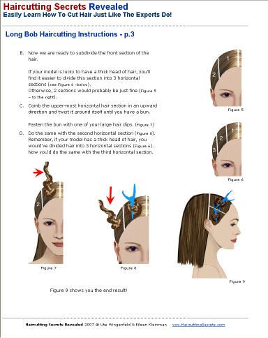 directions hair colour instructions