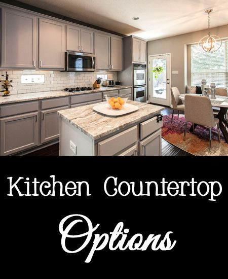 All Countertop Options : Kitchen Countertop Options Countertop materials, Kitchen countertops ...