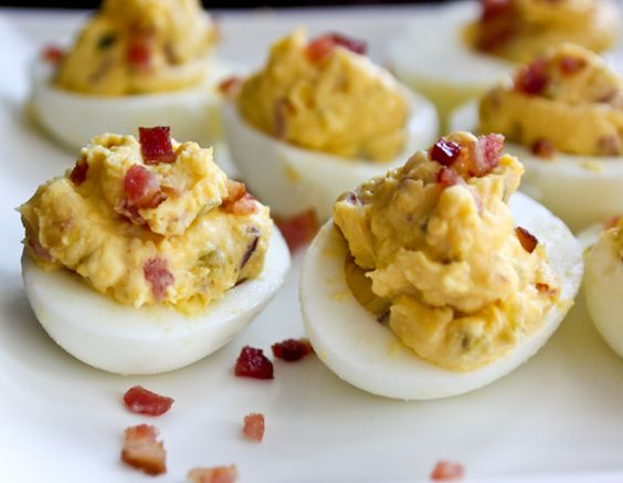 Bacon-Balsamic Deviled Eggs | Recipe | Bacon, Deviled eggs and Chicken ...