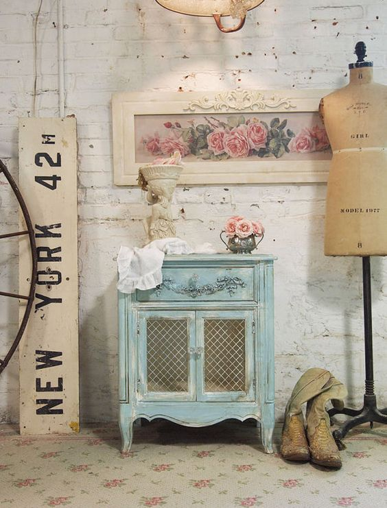 Painted Cottage Chic Shabby Tea Stained Night by paintedcottages, $175.00