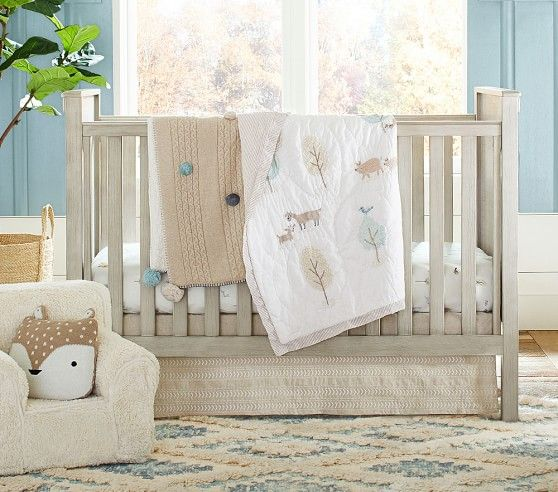 Dakota Woodland Fitted Crib Sheet Rory Crib Pottery Barn