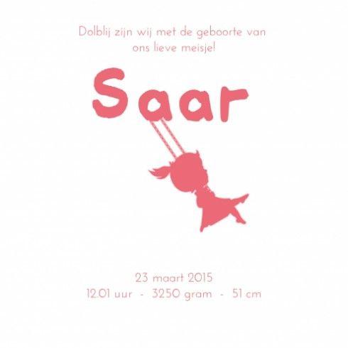 Geboortekaartje - Saar - Simply Cute binnen