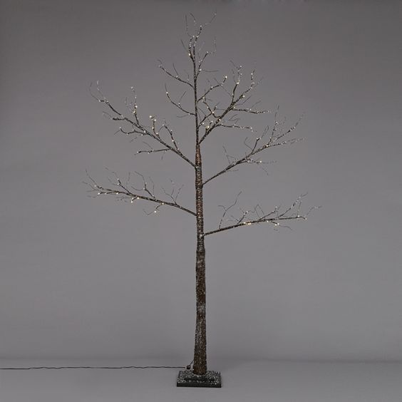 Lovely minimalist twig Christmas tree with LED lights, from John Lewis