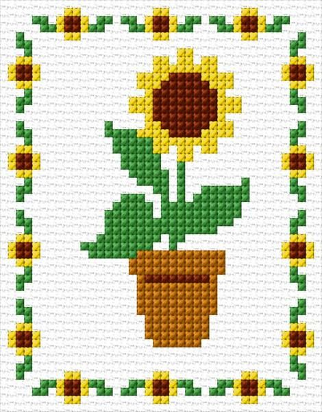 Sunflower 17 4141 Cross Stitch Patterns Flowers Small Cross