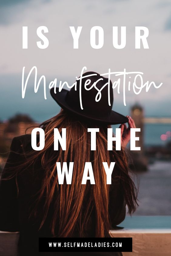 Pinterest Graphic with Title Is Your Manifestation in the Way? - selfmadeladies.com