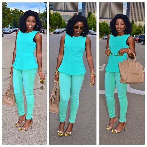 Today's Post: Pastel & Mint #fashion