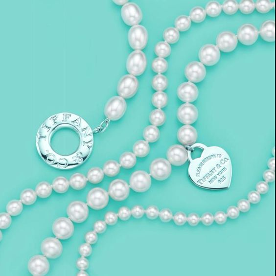 Tiffany & Co pearls #tiffany tiffany silver necklace and bracelet