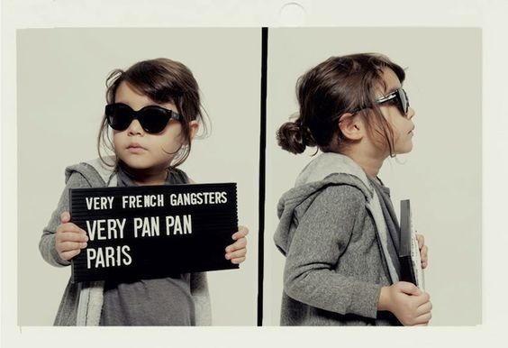 Adorable Kids Transform Into Very French Gangsters. :) via MyModernMet