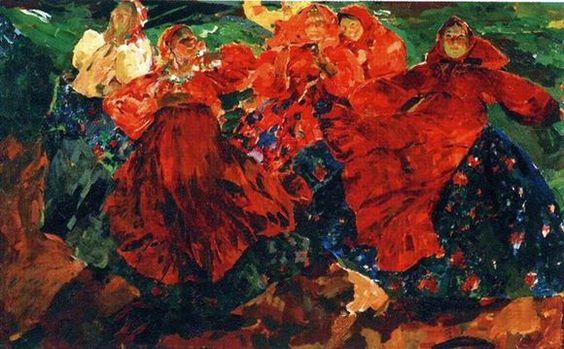 Описание картины Филиппа Малявина «Вихрь»:
