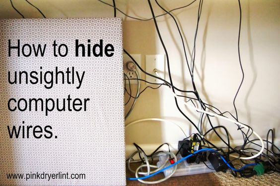 Keep tangled wires out of sight and out of reach from little hands.  Easy and awesome!